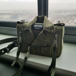 New Authentic Moschino bag purse army green